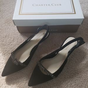 NWT -Charter Club - Black Kitten Heels